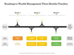 Roadmap To Wealth Management Three Months Timeline