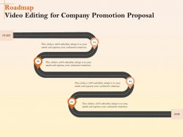 Roadmap Video Editing For Company Promotion Proposal Ppt File Display