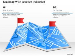 Roadmap With Location Indication Powerpoint Template