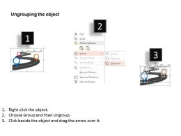 Roadmap With Multiple Icons Success Achievement Flat Powerpoint Design