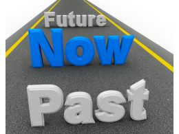 Roadmap With Past Now And Future Text Stock Photo
