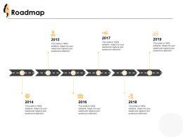 Roadmap Years Process J31 Ppt Powerpoint Presentation File Format