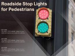 Roadside Stop Lights For Pedestrians
