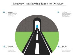 Roadway Icon Showing Tunnel Or Driveway