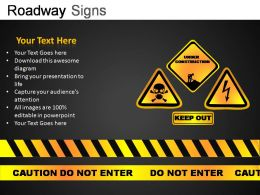 Roadway Signs Powerpoint Presentation Slides