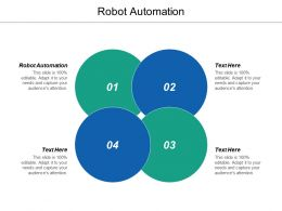 Robot Automation Ppt Powerpoint Presentation Infographic Template Icon Cpb