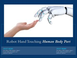 Robot Hand Touching Human Body Part