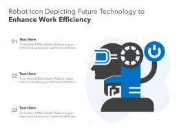 Robot Icon Depicting Future Technology To Enhance Work Efficiency