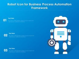 Robot Icon For Business Process Automation Framework
