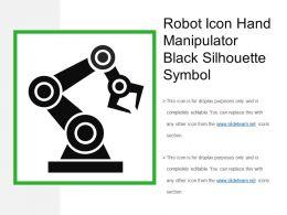 Robot Icon Hand Manipulator Black Silhouette Symbol