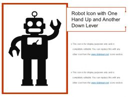 Robot Icon With One Hand Up And Another Down Lever