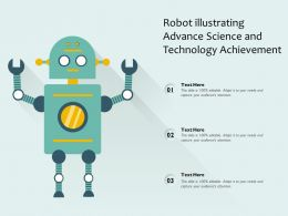 Robot Illustrating Advance Science And Technology Achievement