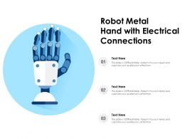 Robot Metal Hand With Electrical Connections