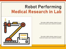 Robot Performing Medical Research In Lab
