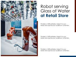 Robot Serving Glass Of Water At Retail Store