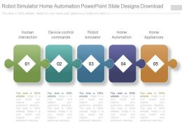 Robot Simulator Home Automation Powerpoint Slide Designs Download