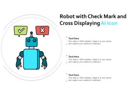 Robot With Check Mark And Cross Displaying Ai Icon