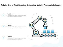 Robotic Arm In Work Depicting Automation Maturity Process In Industries