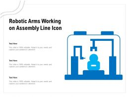 Robotic Arms Working On Assembly Line Icon