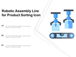 Robotic Assembly Line For Product Sorting Icon