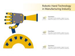 Robotic Hand Technology In Manufacturing Industry