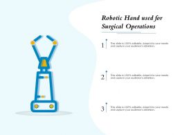 Robotic Hand Used For Surgical Operations