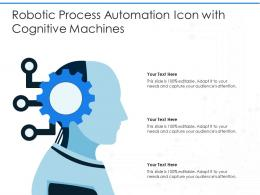 Robotic Process Automation Icon With Cognitive Machines