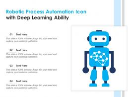 Robotic Process Automation Icon With Deep Learning Ability