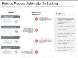 Robotic Process Automation In Banking Ppt Powerpoint Presentation Design Ideas