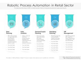 Robotic Process Automation In Retail Sector