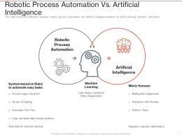 Robotic Process Automation Vs Artificial Intelligence Ppt Powerpoint Presentation Slides Microsoft