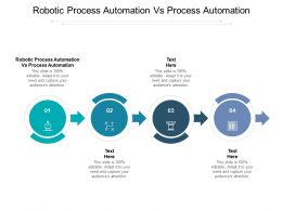 Robotic Process Automation Vs Process Automation Ppt Powerpoint Icons Cpb