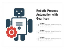 Robotic Process Automation With Gear Icon