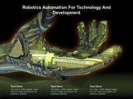 Robotics Automation For Technology And Development