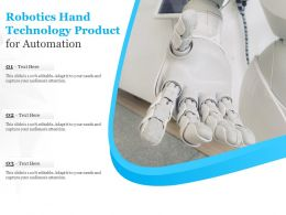 Robotics Hand Technology Product For Automation