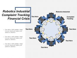 Robotics Industrial Complaint Tracking Financial Crisis Infographics Maps Cpb