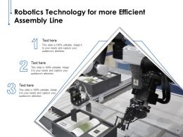 Robotics Technology For More Efficient Assembly Line