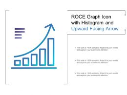 Roce Graph Icon With Histogram And Upward Facing Arrow