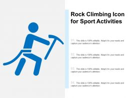 Rock Climbing Icon For Sport Activities