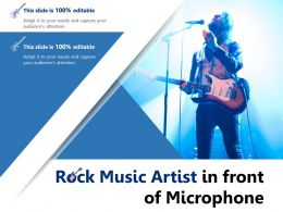 Rock Music Artist In Front Of Microphone
