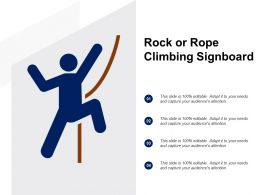 Rock Or Rope Climbing Signboard