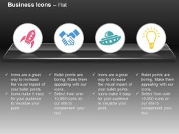 Rocket Business Deal Idea Generation Ppt Icons Graphics
