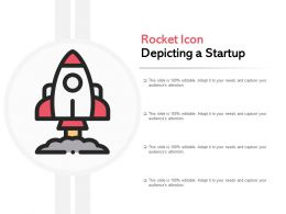 Rocket Icon Depicting A Startup