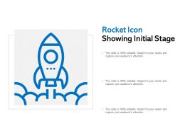 Rocket Icon Showing Initial Stage