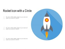 Rocket Icon With A Circle