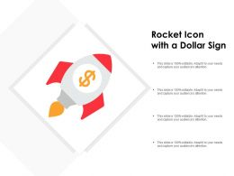 Rocket Icon With A Dollar Sign