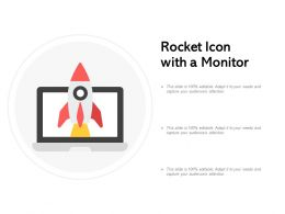 Rocket Icon With A Monitor