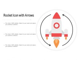 Rocket Icon With Arrows