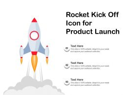 Rocket Kick Off Icon For Product Launch