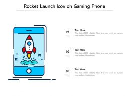 Rocket Launch Icon On Gaming Phone